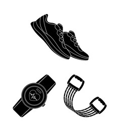 gym and training black icons in set collection for vector image