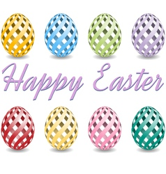 Happy easter eggs background vector