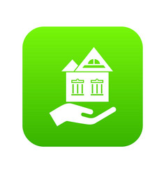 home protection icon green vector image