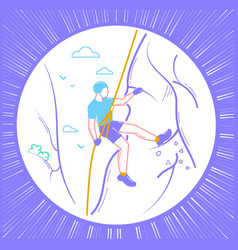 icon of a climber linear style vector image