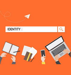 identity search graphic for business vector image