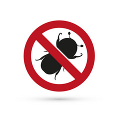 Insect stop sign vector