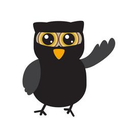 isolated halloween owl vector image