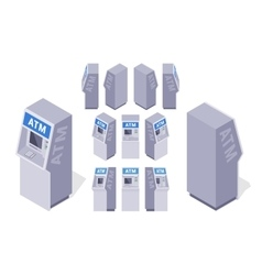 Isometric ATMs vector image