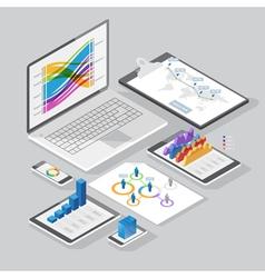 Isometric infographics design elements vector