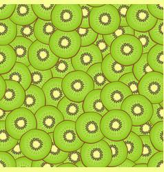 kiwi seamless pattern vector image