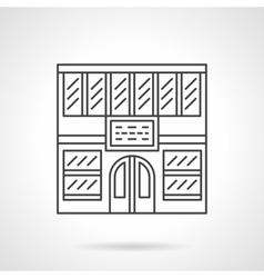 Library facade flat line icon vector