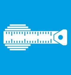Measuring centimeter icon white vector