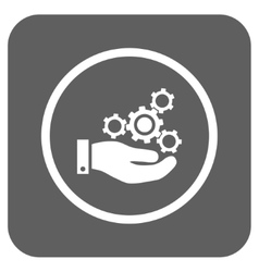 Mechanics Service Flat Squared Icon vector