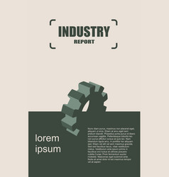 Modern brochure design template industry vector