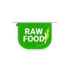natural healthy organic vegan market logo raw food vector image