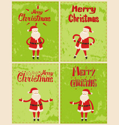New year greeting cards design with saint nicholas vector