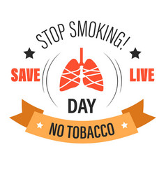 no tobacco isolated icon stop smoking lung cancer vector image