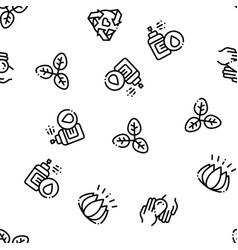 organic cosmetics seamless pattern vector image