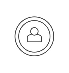 person in circle line outline icon vector image