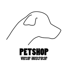 pet shop concept silhouette dog vector image
