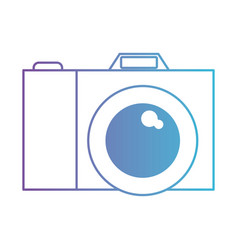 photo camera icon in degraded purple to blue vector image