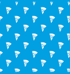 pizza pattern seamless blue vector image