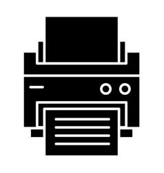 Printer solid icon printout vector