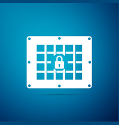 Prison window icon isolated on blue background vector