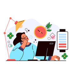 professional burnout long working day vector image