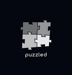 puzzle sign logotype theme vector image