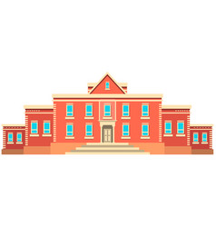 school building buildings for city construction vector image