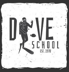 Scuba diving school vector