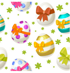 seamless textured pattern different eggs for vector image