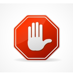 Stop Sign Red isolated on white vector image
