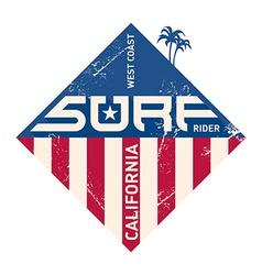 Surf t-shirt design vector