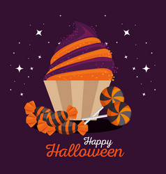 Sweet candy happy halloween vector