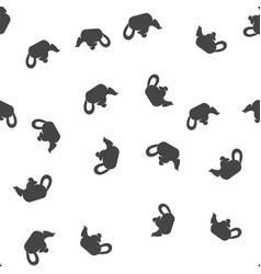 Teapot seamless pattern vector