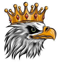 The logo queen eagles cute crown print vector