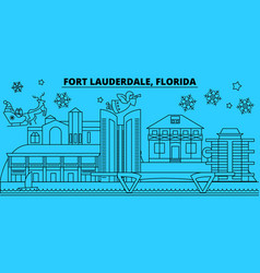 united states fort lauderdale winter holidays vector image