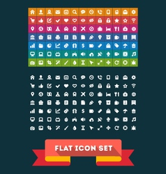 Universal Flat icon set vector image