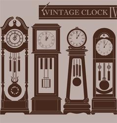Vintage clock iv vector
