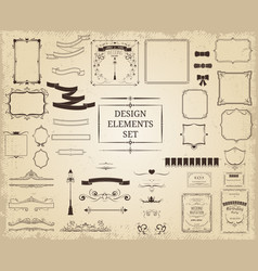 vintage design elements collection vector image