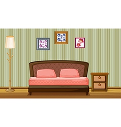 A bed and a lamp vector image vector image