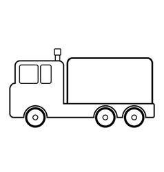 Cargo car icon vector image