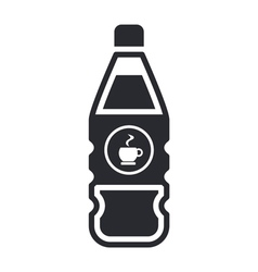 coffee bottle icon vector image vector image