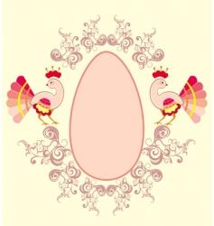 Easter egg background vector image vector image