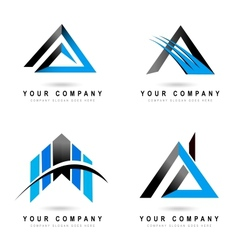 Letter A Logo Designs vector image vector image