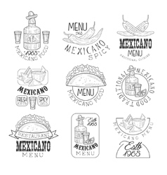 National Traditional Mexican Cuisine Restaurant vector image vector image