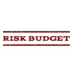Risk budget watermark stamp vector