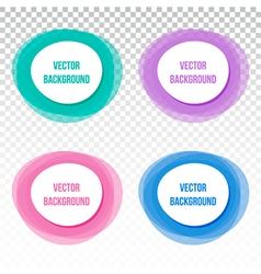 Set collection of four colorful banners frames vector image vector image