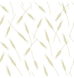Wheat seamless pattern for your design vector image