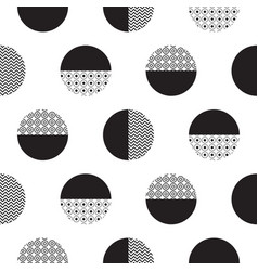 geometric black and white dotted circles vector image