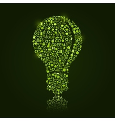 Green Bulb Silhouette vector image