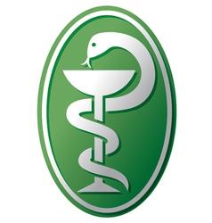 Snake-medical symbol vector